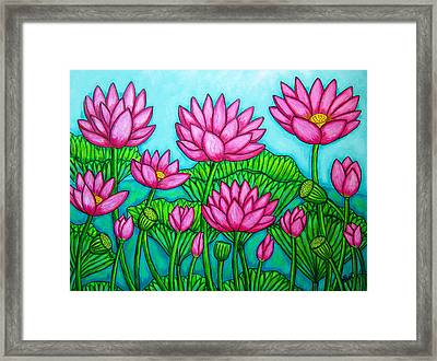Lotus Bliss II Framed Print by Lisa  Lorenz