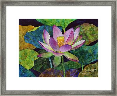 Lotus Bloom Framed Print by Hailey E Herrera