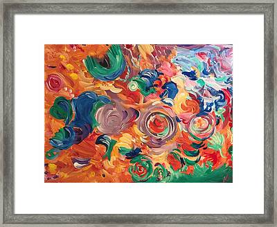 Lotus Blooms Framed Print