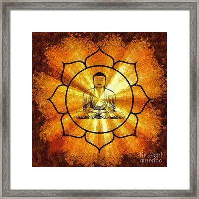 Lotus Buddha By Sarah Kirk Framed Print by Sarah Kirk
