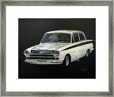 Lotus Cortina Framed Print