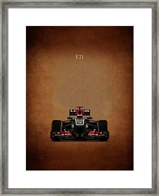 Lotus E21 Framed Print