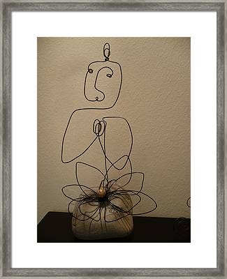 Lotus Emerging Framed Print by Live Wire Spirit