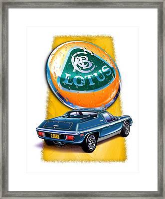Lotus Europa Blue Framed Print by David Kyte