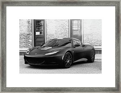 Lotus Evora Framed Print
