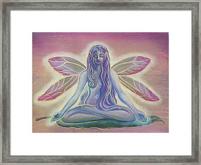 Lotus Faerie Framed Print