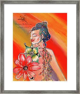 Lotus Flower Bomb Framed Print by Devante Woodson