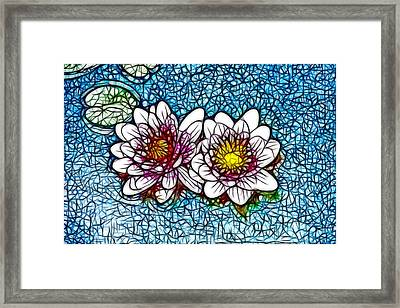 Lotus Flower In The Pond   14 Framed Print by Lanjee Chee