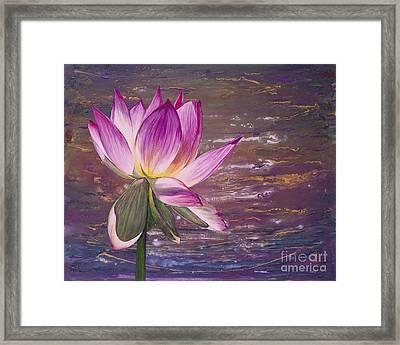 Lotus Flower Framed Print by Patty Vicknair