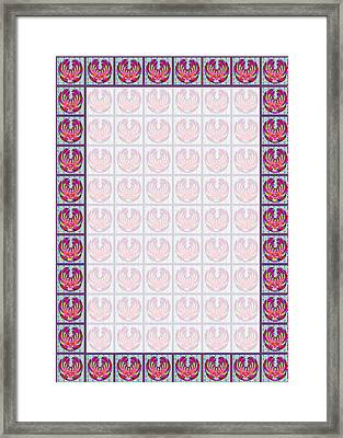 Templates Diy Download For Printing Invitations Or Create A Wedding Blessing Signature Board Framed Print by Navin Joshi