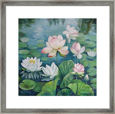 Lotus Flowers Framed Print