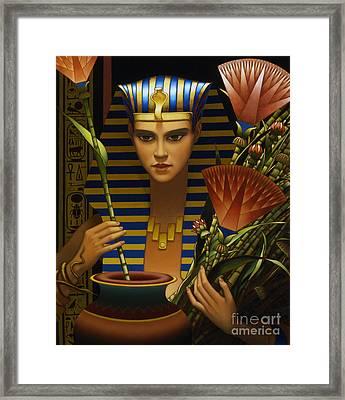 Lotus Framed Print by Jane Whiting Chrzanoska