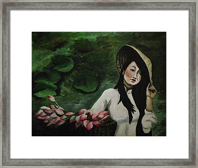 Lotus Framed Print by Kim Selig