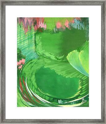 Lotus Leaves Framed Print by Lian Zhen