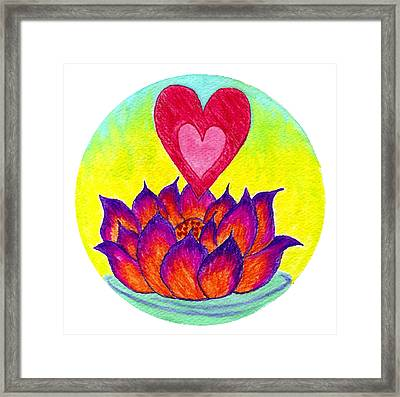 Lotus Love Framed Print by Wendy Hawkins