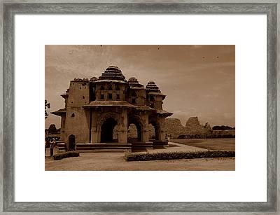 Lotus Mahal Framed Print by Deepak Pawar