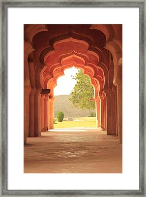 Lotus Mahal Framed Print