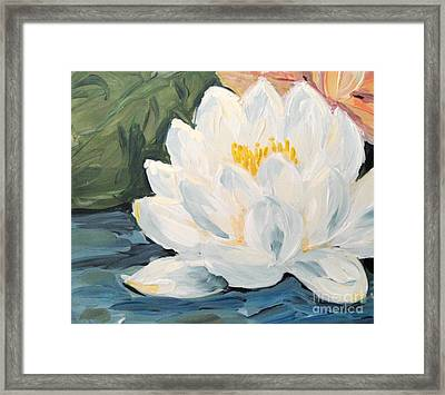 Framed Print featuring the painting Lotus by Maria Langgle
