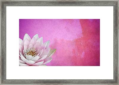 Lotus Framed Print by Mark Rogan