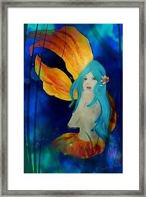 Lotus Mermaid  Framed Print