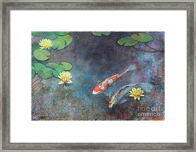 Lotus Pool Framed Print by Lori McNee