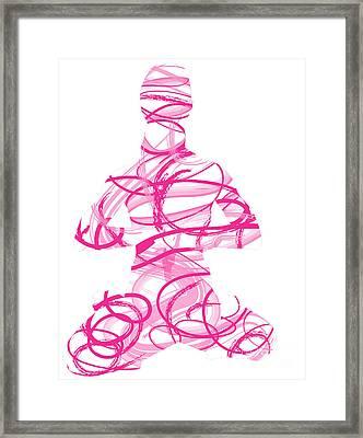 Yoga Pose Asana Lotus Pose Framed Print