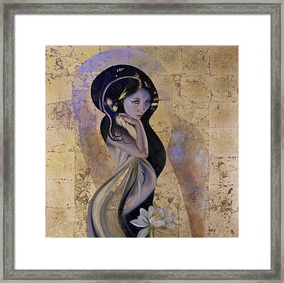 Framed Print featuring the painting Lotus by Ragen Mendenhall