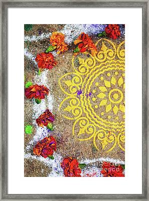 Lotus Rangoli Framed Print