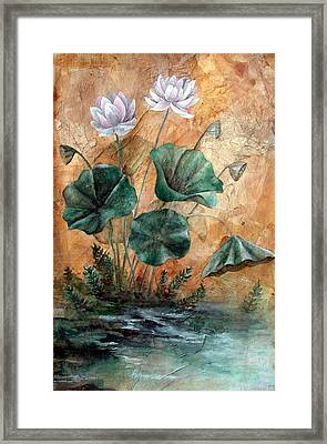Lotus Framed Print by Sandy Clift