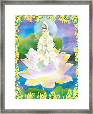 Lotus-sitting Avalokitesvara 1 Framed Print by Lanjee Chee