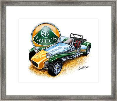 Lotus Super Seven Sports Car Framed Print by David Kyte