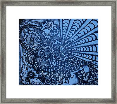 Lotus Vibrations  Framed Print by Mike OKeefe