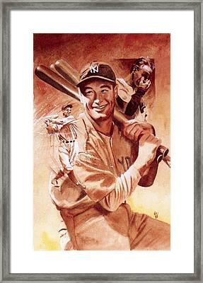 Lou Gehrig Framed Print by Ken Meyer jr