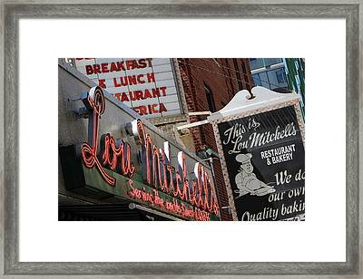 Lou Mitchells Restaurant And Bakery Chicago Framed Print