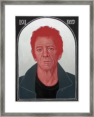 Lou Reed 2 Framed Print by Jovana Kolic