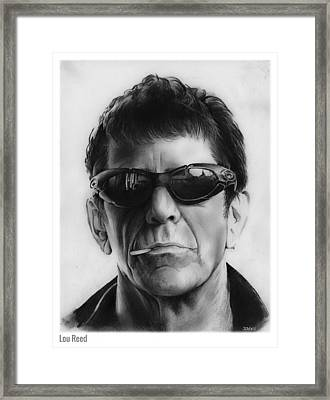Lou Reed Framed Print by Greg Joens