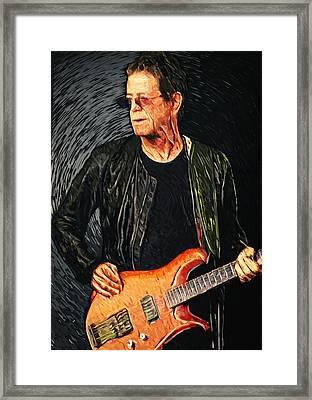 Lou Reed Framed Print by Taylan Apukovska