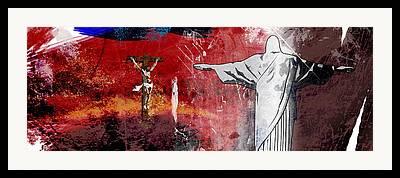 Crucify Digital Art Framed Prints