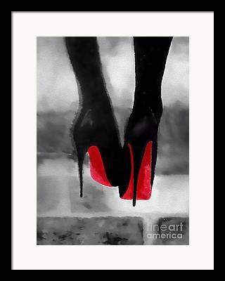 Red Shoe Framed Prints