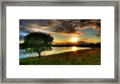 Lough Erne Sunset Framed Print by Kim Shatwell-Irishphotographer
