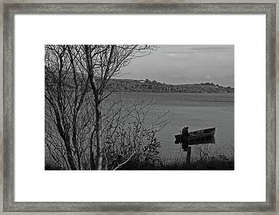 Fishing On Lough Fea Framed Print