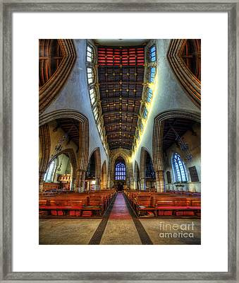 Loughborough Church - Nave Vertorama Framed Print