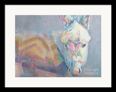 Donkey Foal Paintings Framed Prints