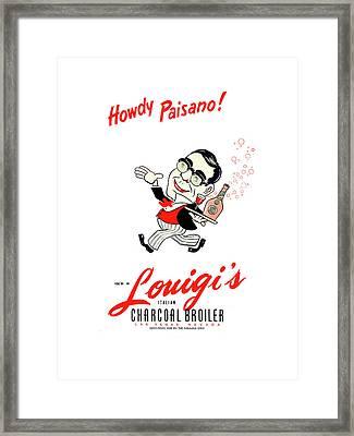 Louigis Las Vegas 1960 Framed Print