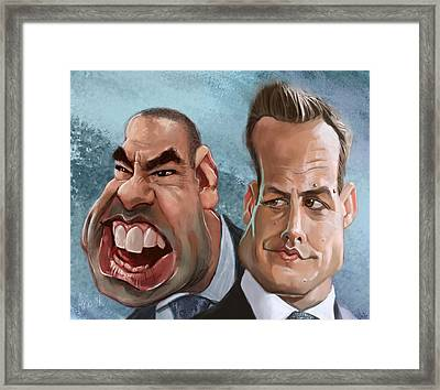 Louis And Harvey Framed Print