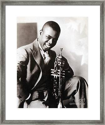 Louis Armstrong, American Jazz Musician Framed Print by Science Source