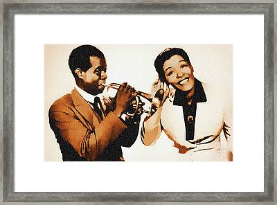 Louis Armstrong And Billie Holiday Framed Print