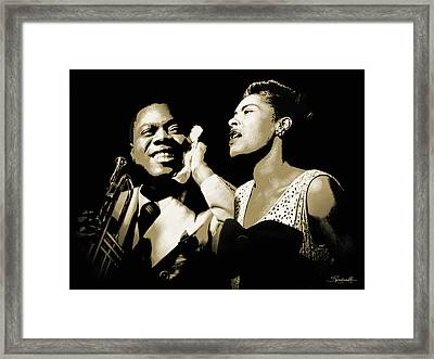 Louis Armstrong And Billie Holiday Portrait Framed Print