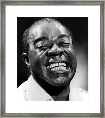 Louis Armstrong, Circa 1963 Framed Print