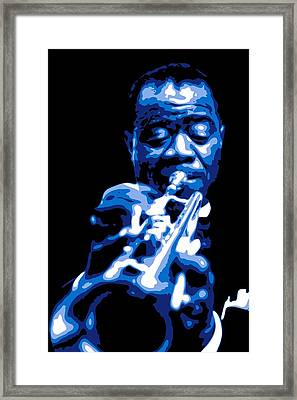 Louis Armstrong Framed Print by DB Artist
